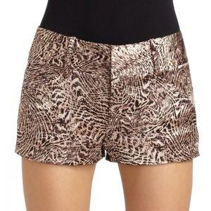 Alice + Olivia Satin Silk Leopard Short